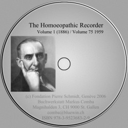 Homeopathic Recorder Volumen 1 (1886) bis Volume 75 (1959)